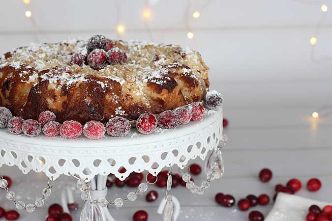 Cranberry-Orange Almond Cake