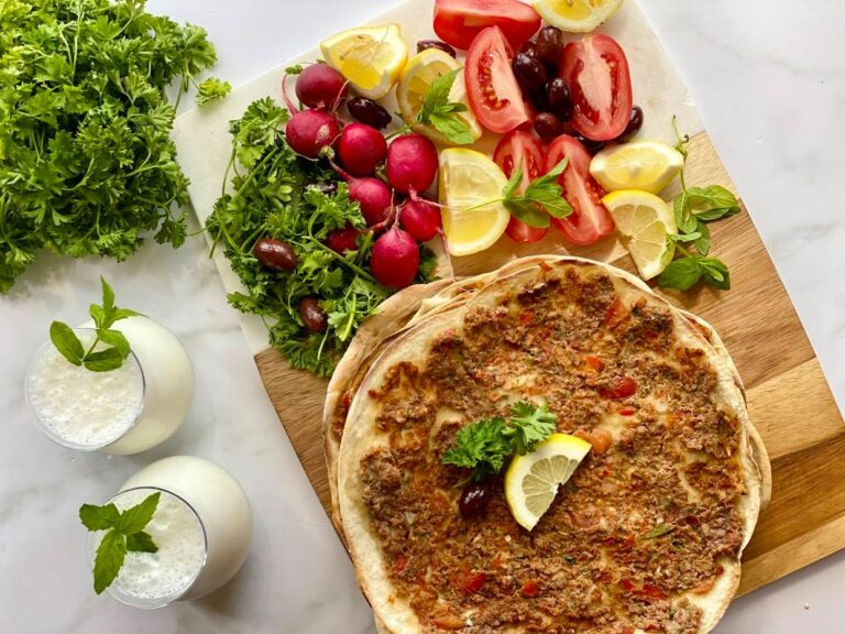 Traditional Lahmacun Sfiha Meat Pies Recipe