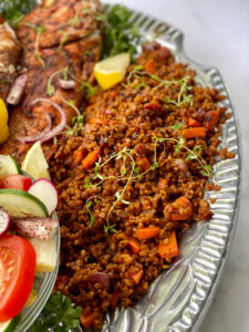 red snapper turkish wheat pilaf