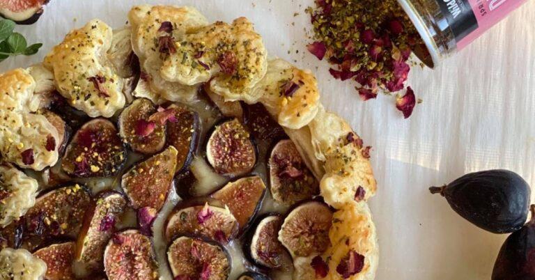 Fig Rose-Dukkah Galette
